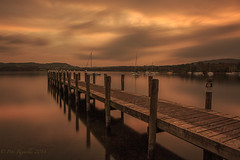 Lake Windermere Sunset (Pete 5D......) Tags: wood sky lake mountains reflection water clouds boats boat wooden still long exposure imac hyperfocal district jetty calm hills le walkway distance ambleside ef2470mmf28lusm windermere manfrotto gantry autofocus canon5dmarkiii bwnd301000x manfrottomh057m0rc4magballhead 055cxpro3tripod
