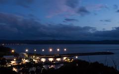 Snug Cove @twilight (dlerps) Tags: ocean longexposure sea water night clouds lights evening coast pier twilight dock harbour sony sigma australia shore wharf newsouthwales eden bluehour snugcove seaport lerps sonyalphadslr sigma1850mmf28exdcmacro twofoldbay sonyalphaa77v daniellerps