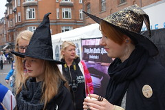 shy witch (Rezazade) Tags: halloween denmark hall witch streetphotography harrypotter danmark witchcraft odense