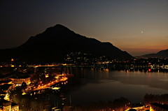 Lecco, dal campanile (Fab!!) Tags: italy landscape sunsetlight comolake lakeofcomo panoramafotografico thebestofmimamorsgroups lungolagodilecco