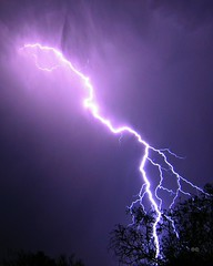 (rcameraw) Tags: arizona purple desert tucson az strike lightning thunder marana