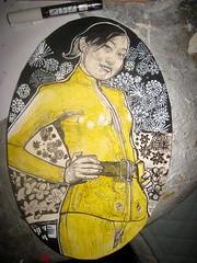 combinaison japonaise (mc1984) Tags: flowers yellow ink painting flickr japonese mc1984 oct14