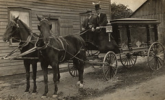 Horse-drawn hearse, late 1880s
