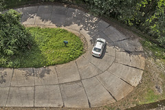 Mirror Image of 'C' (Aiel) Tags: car turn vehicle karnataka hairpin westernghats ghats agumbe renaultlogan mahindraverito