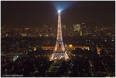 Eiffel Tower illuminated from Tour Montparnasse (alcowp) Tags: paris france tower night nikond70 illuminations eiffel toureiffel trocadero fra