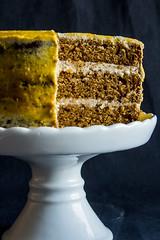 All spice pumpkin torte. (tylife.pl) Tags: cake pumpkin recipe dessert spice frosting torte