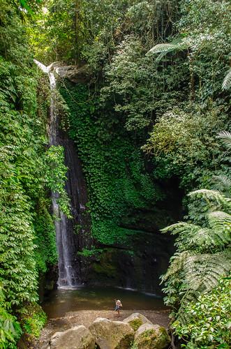 Jeruk Manis Waterfall in Lombok, Indonesia