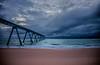 Storm incoming ((Virginie Le Carré)) Tags: ocean sky cloud storm landscape atlantic ciel wharf nuage paysage orage atlantique océan lasalie