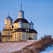 On the hill top (Kasia Sokulska (KasiaBasic)) Tags: fujix canada alberta rural prairies winter landscape architecture stpeterpaulrussoorthodoxchurch