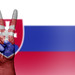 Peace Symbol with National Flag of Slovakia