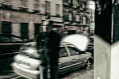 the confused mechanic (johann walter bantz) Tags: 23mm xpro2 france fujifilm 93 pantin banlieueparisienne creative imagination person blackwhite artofvisual artistic art conceptual street voiture car