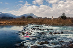 Winter SUP (Martin Zurek) Tags: sup 5dsr canon5dsr landscape nature immenstadt allgäu bavaria stecher stechertwins mariostecher wassersport sports action water river fluss iller frühling