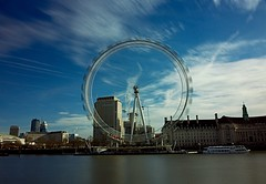 London Eye (Sarah Marston) Tags: london londoneye thames riverthames sony alpha a65 boat countyhall landmark river february 2017 reflection clouds