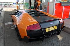 Lamborghini Murciélago LP670-4 SuperVeloce (D's Carspotting) Tags: lamborghini murciélago lp6704 superveloce france coquelles calais orange 20100613 a15aog aog peter saywell le mans 2010 lm10 lm2010