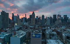 Midtown Sunrise (20170325-DSC09539) (Michael.Lee.Pics.NYC) Tags: newyork aerial hotelview ink48 midtownmanhattan hellskitchen rooftops timessquare sunrise architecture cityscape skyline morning sony a7rm2 fe2470mmf28gm