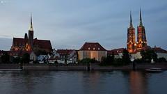 Wrocław (dreptacz) Tags: odra wrocław polska katedra slt55 lustrzanka kościół sony55 widok niebo światła