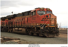 BNSF ES44C4 6527 (Robert W. Thomson) Tags: bnsf burlingtonnorthernsantafe ge diesel locomotive sixaxle es44 es44c4 gevo evolutionseries train trains trainengine railroad railway greatfalls montana