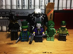 The Long Halloween, Part Two. (LordAllo) Tags: lego dc batman the long halloween scarecrow mad hatter solomon grundy joker poison ivy riddler