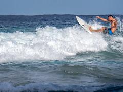 Surfer, Koko Beach, Hana HIghway, Maui, Hawai'i (www.clineriverphotography.com) Tags: roadtohana surfing 2014 maui kokibeach location hawaii activity usa
