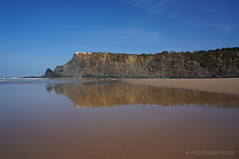 Beach reflections, Praia de Odeceixe (PHOTOGRAFIEBER) Tags: portugal roadtrip beauty beach sea ocean nature landscape praia de odeceixe alentejo reflection