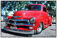 Shiny Chevy (juliewilliams11) Tags: car truck vehicle chevy chevrolet chrome shiny red old retro era classic style 1955