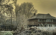 Frozen house. (Alex-de-Haas) Tags: smorgens 50mm d5 hdr january nederland nederlands netherlands nikkor nikkor50mm nikon nikond5 noordholland schoorldammerbrug thenetherlands westfriesland bevroren bridge brug cold daglicht daylight fog foggy freezing frozen handheld haze hazy highdynamicrange house houses huis huizen januari kou koud landscape landschap licht light mist misty morning nevel nevelig ochtend vrieskou winter