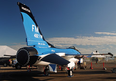 10th Air Force 55th Anniversary F-16 (Infinity & Beyond Photography) Tags: usaf f16 jet fighter florida makos 55th anniversary scheme 10th air force homestead arb reserve base aircraft afrc 482nd wing shark airplane