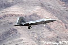 "Lockheed Martin F-22A Block 30 Raptor 05-4104 95th Fighter Squadron ""Mr. Bones"" (xuxinyi1000) Tags: redflag161 lockheed martin f22a block 30 raptor 054104 ty cn 6454104 4104 95th fighter squadron mr bones 95 fs 325th wing 325 fw tyndall afb us air force red flag 161 nellis"