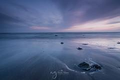 Serenity....... (Pastel Frames Photography) Tags: sunset beach gylesquay ireland colouth longexposure canon5dmark3 2470mm clouds colour sky water irish sea stone