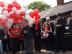Hillsborough Memorial Service held at Ashby Funeral Care on 15th April 2017. Here Tim Abrams is leading the service before 96 balloons were released - one for each life lost 28 years ago that day. (Scunthorpe Life) Tags: scunthorpe liverpool football lfc hillsborough disaster tragedy jft96