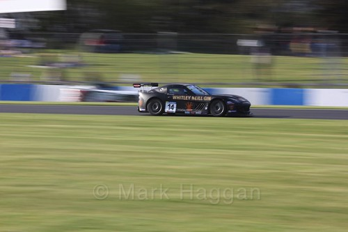 Declan Jones in the Ginetta GT4 Supercup during the BTCC Weekend at Donington Park 2017: Saturday, 15th April