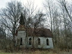 lost soul... (BillsExplorations) Tags: church soul abandoned decay forgotten country rural ruraldecay abandonediowa faith religion woods forest lost slide sliderssunday hss countrychurch closed old