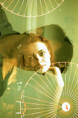 film (La fille renne) Tags: film analog 35mm lafillerenne minoltax700 50mmf2 lomography lomographyxpro200 xpro crossprocessing mx tripleexposure multipleexposure portrait marlenekambourian sébastien