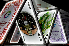 House of Cards (vpickering) Tags: playingcards lightshows lightcitybaltimore 2017 baltimore lightcity card cards lightshow playingcard
