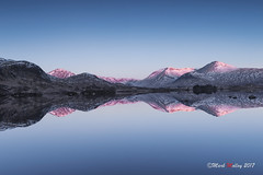 Sunlit hills (markmolloy) Tags: lochan scotland moor rannoch glencoe sunrise reflection morning