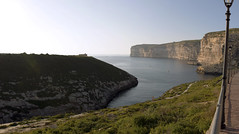 Curvy shore (Majorimi) Tags: canon eos 70d digital color colorful nice panorama malta island spring sea gozo sky rock hill mountain bay curving curvy shore