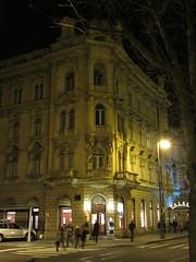 Palace Hotel at night, Zagreb, Croatia (Paul McClure DC) Tags: zagreb croatia hrvatska balkans feb2017 historic architecture