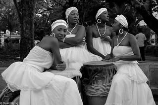 Caribbean Dancers B&W