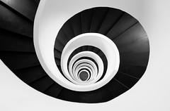 Helix (The Green Album) Tags: helix spiral twirl staircase 5 hotel bilbao spain interior black white monochrome steps