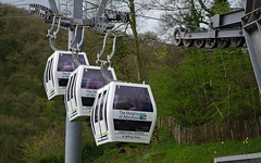 Up, up and away! (Blue Sky Pix) Tags: cable cars matlock touristy derbyshire peak district heightsofabraham england easter pentax