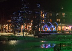 20170323_0089_1 (Bruce McPherson) Tags: brucemcphersonphotography whistlerolympicplaza lowlight nightphotography coloredlights whistlerbynight winter spring snow whistler bc canada whistlervillagenorth whistlernorthvillage