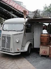 Grey Citroën H-Van, Southbank (maxrevellation) Tags: market food truck foodtruck classic vintage old french citroen hvan typeh city urban street streetfood streetphotography southbank london