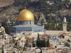 Rotskerk Jeruzalem, uitzicht vanaf de Citadel