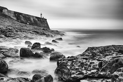 An island nation (Julian Pett) Tags: porthcawl light house lighthouse bridgend wales cymru sea sand beach ocean waves long exposure water island nation brexit
