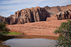 snow canyon petrified dunes (abbigail may) Tags: water blue red desert clouds nature mountains rock