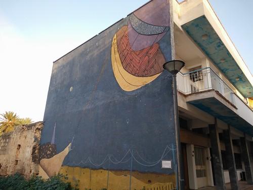 Mural moderno. Famagusta. Chipre