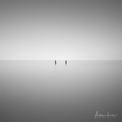 Just The Two Of Us (Alec Lux) Tags: bw nieuwsluis blackandwhite breakwater groyne longexposure minimal minimalism monochrome netherlands ocean sea seascape