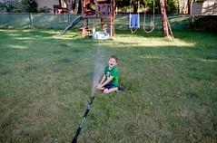 Isaac [2] (jwbeatty) Tags: 35mm analog backyard family film filmisnotdead home hose illinois isaac ishootfilm kodak lakezurich mesuper pentaxart project365 smcm28mmf28 sprinkler ultramax400