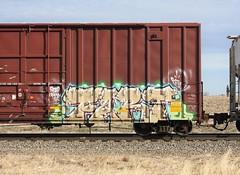 Fart (quiet-silence) Tags: graffiti graff freight fr8 train railroad railcar art fart boxcar tofx tofx887152