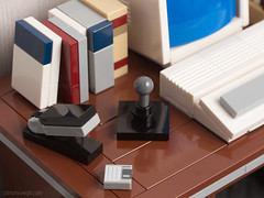 Desk Detail (powerpig) Tags: lego powerpig computer retro desk 80s